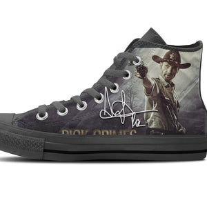 rick grimes ladies high top sneakers