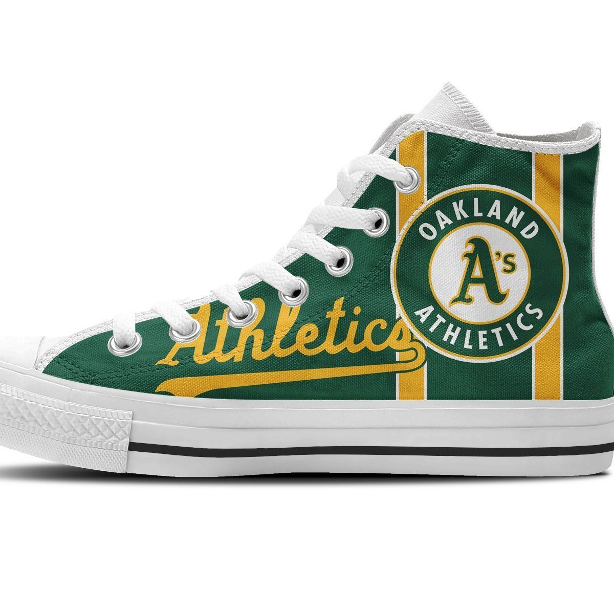 oakland athletics mens high top sneakers