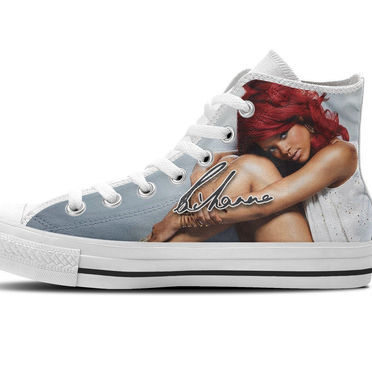 rihanna ladies high top sneakers