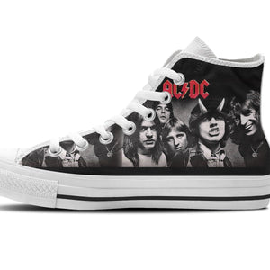 acdc band mens high top sneakers