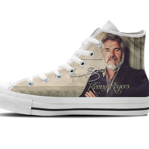 kenny rodgers ladies high top sneakers