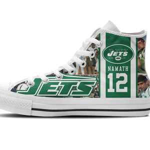 joe namath mens high top sneakers high top
