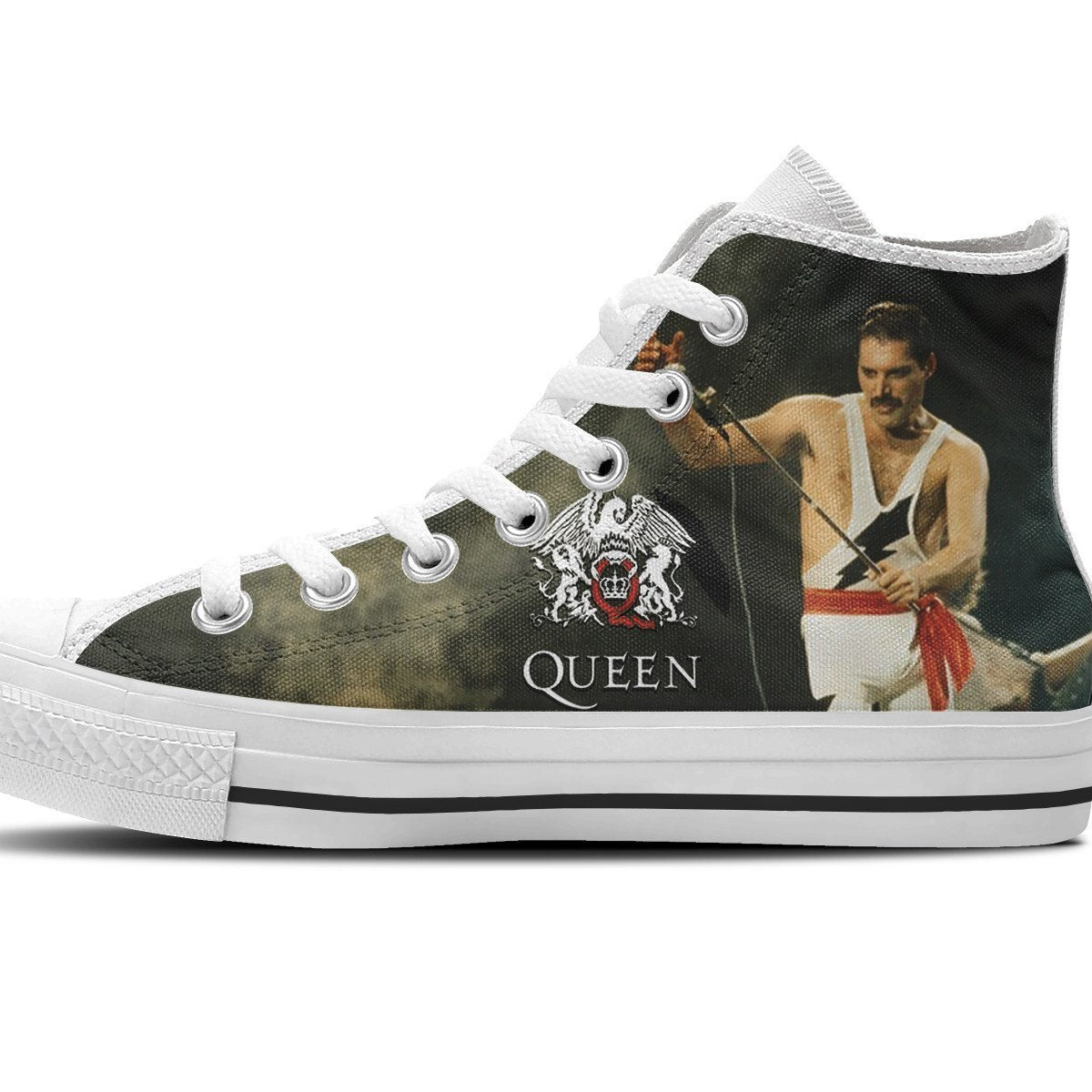 queen band ladies high top sneakers
