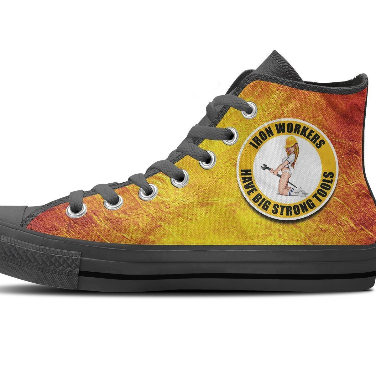 ironworkers strong tools ladies high top sneakers