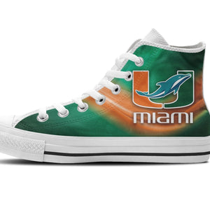 dolphins um mens high top sneakers