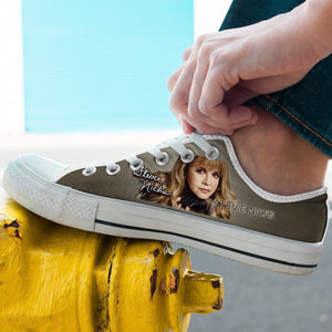 stevie nicks mens low cut sneakers