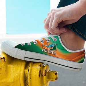 dolphins um mens low cut sneakers