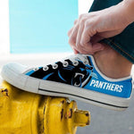 carolina panthers mens low cut sneakers cut