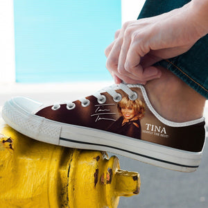 tina turner mens low cut sneakers