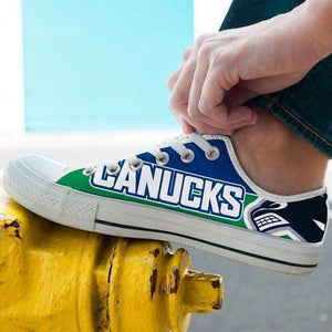 vancouver canucks mens low cut sneakers cut