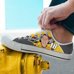 kyle busch mens low cut sneakers