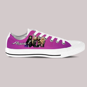 poison ladies low cut sneakers
