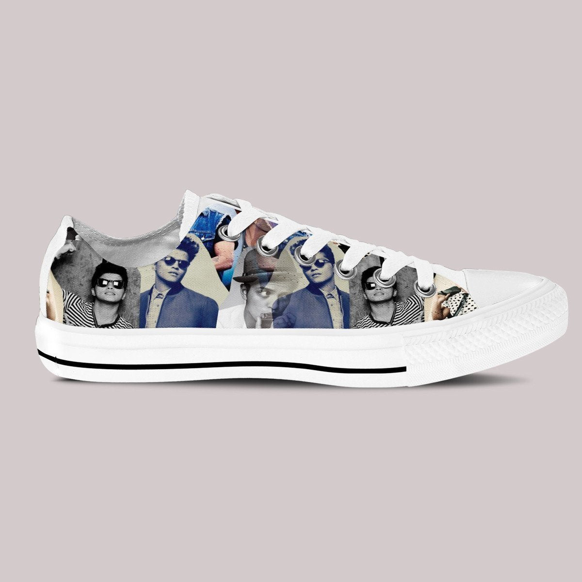 bruno mars mens low cut sneakers