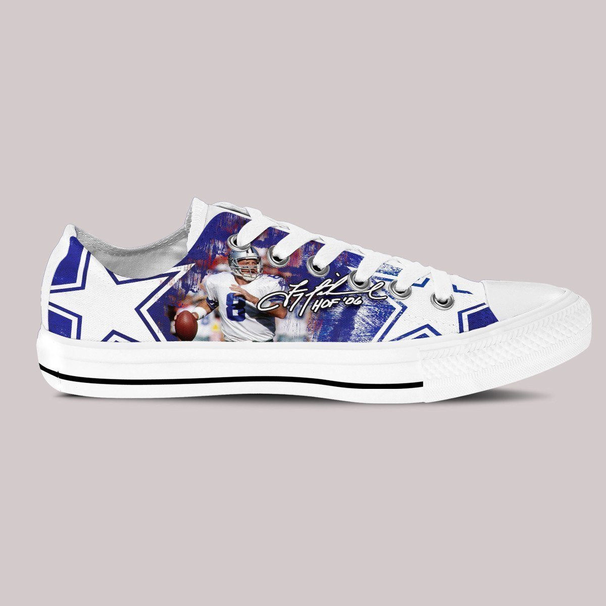 troy aikman mens low cut sneakers