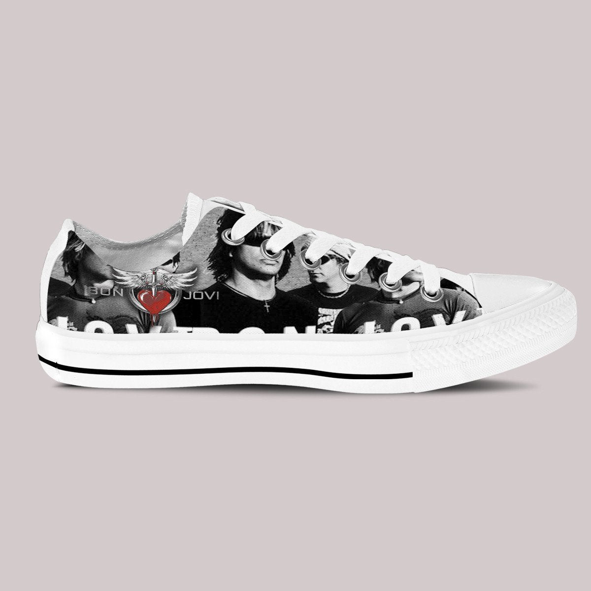 bon jovi ladies low cut sneakers