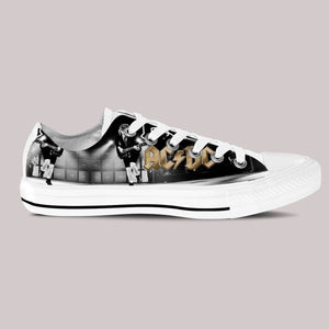 acdc band mens low cut sneakers