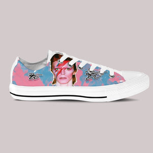 david bowie ladies low cut sneakers