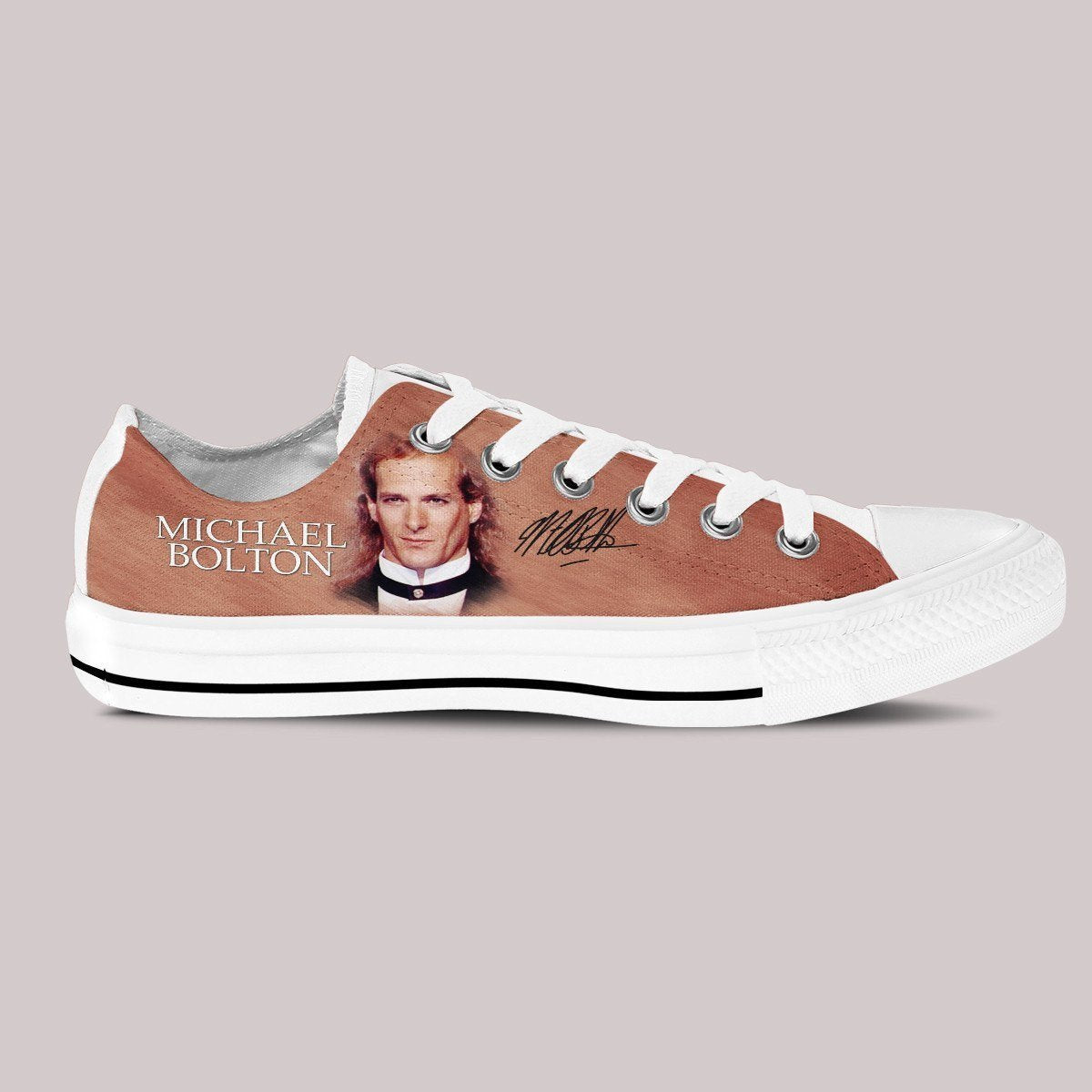 michael bolton mens low cut sneakers