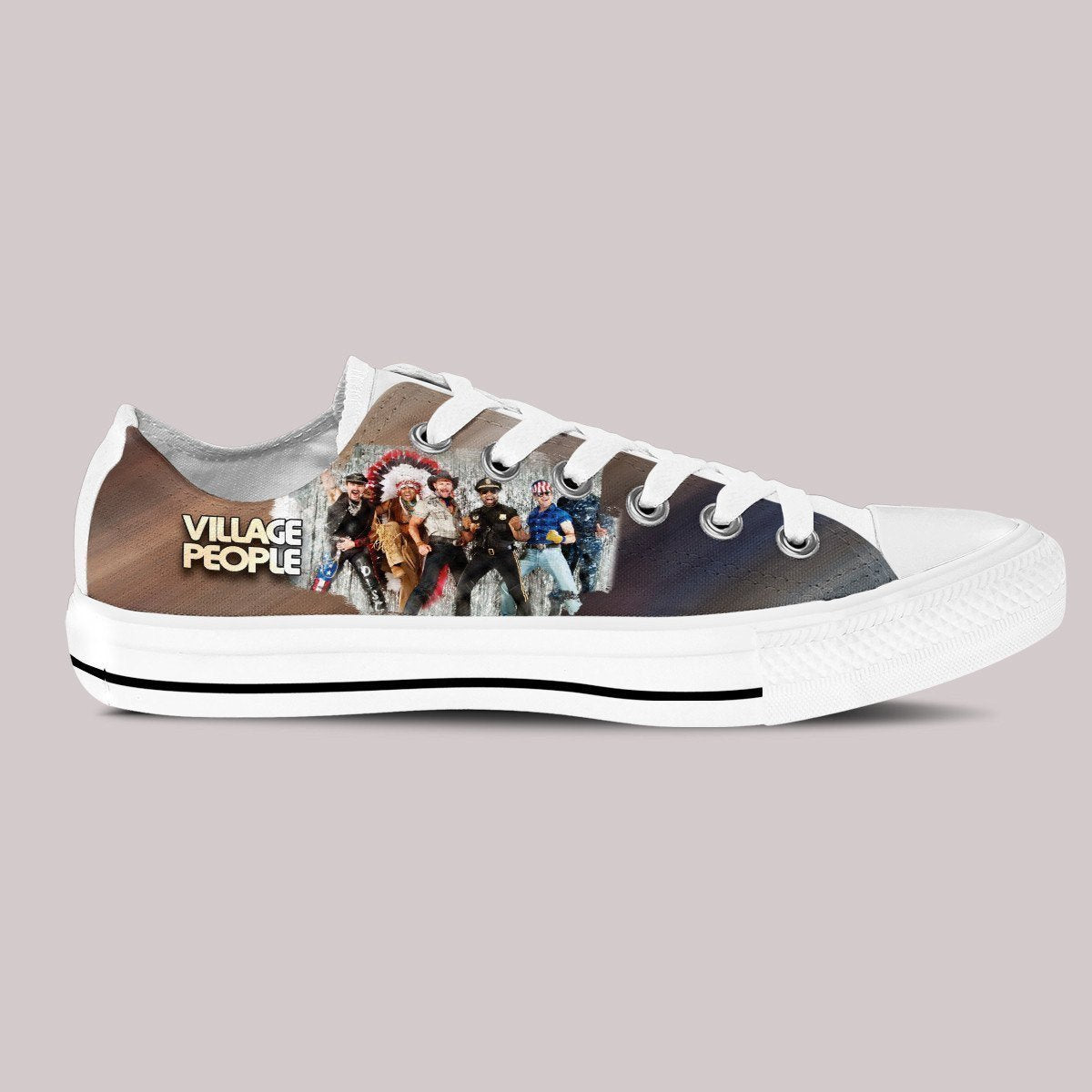 the village people mens low cut sneakers