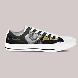 muhammad ali mens low cut sneakers cut