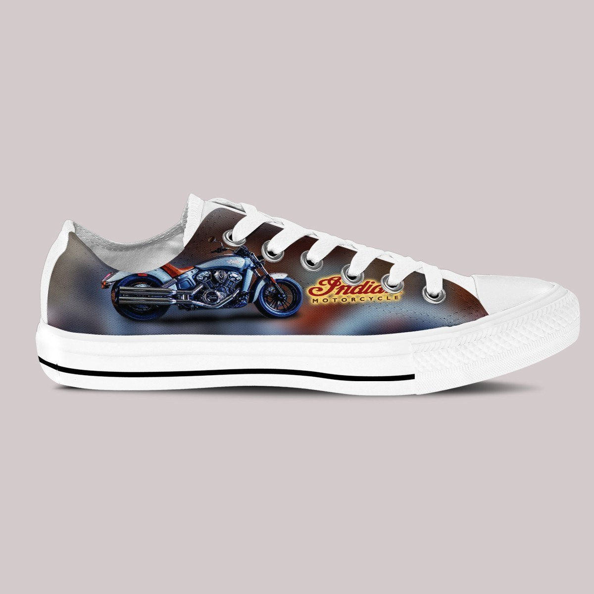 indian motorcycles mens low cut sneakers