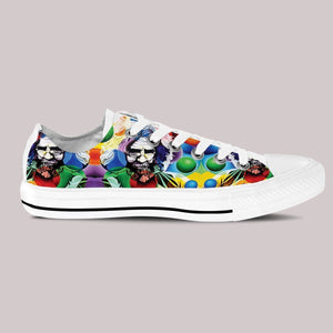jerry garcia mens low cut sneakers