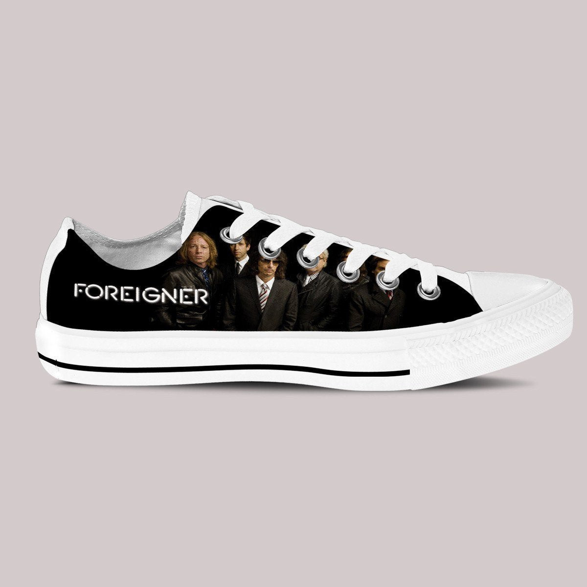 foreigner mens low cut sneakers