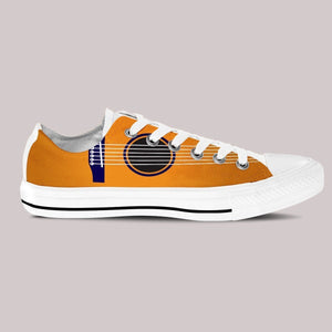 guitar art ladies low cut sneakers