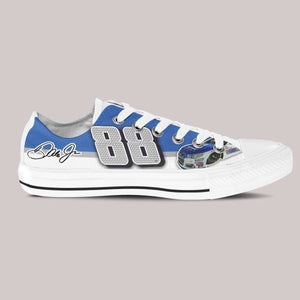 dale earnhardt jr nascar mens low cut sneakers cut