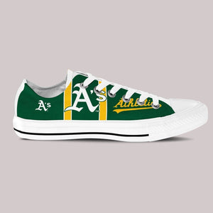 oakland athletics ladies low cut sneakers