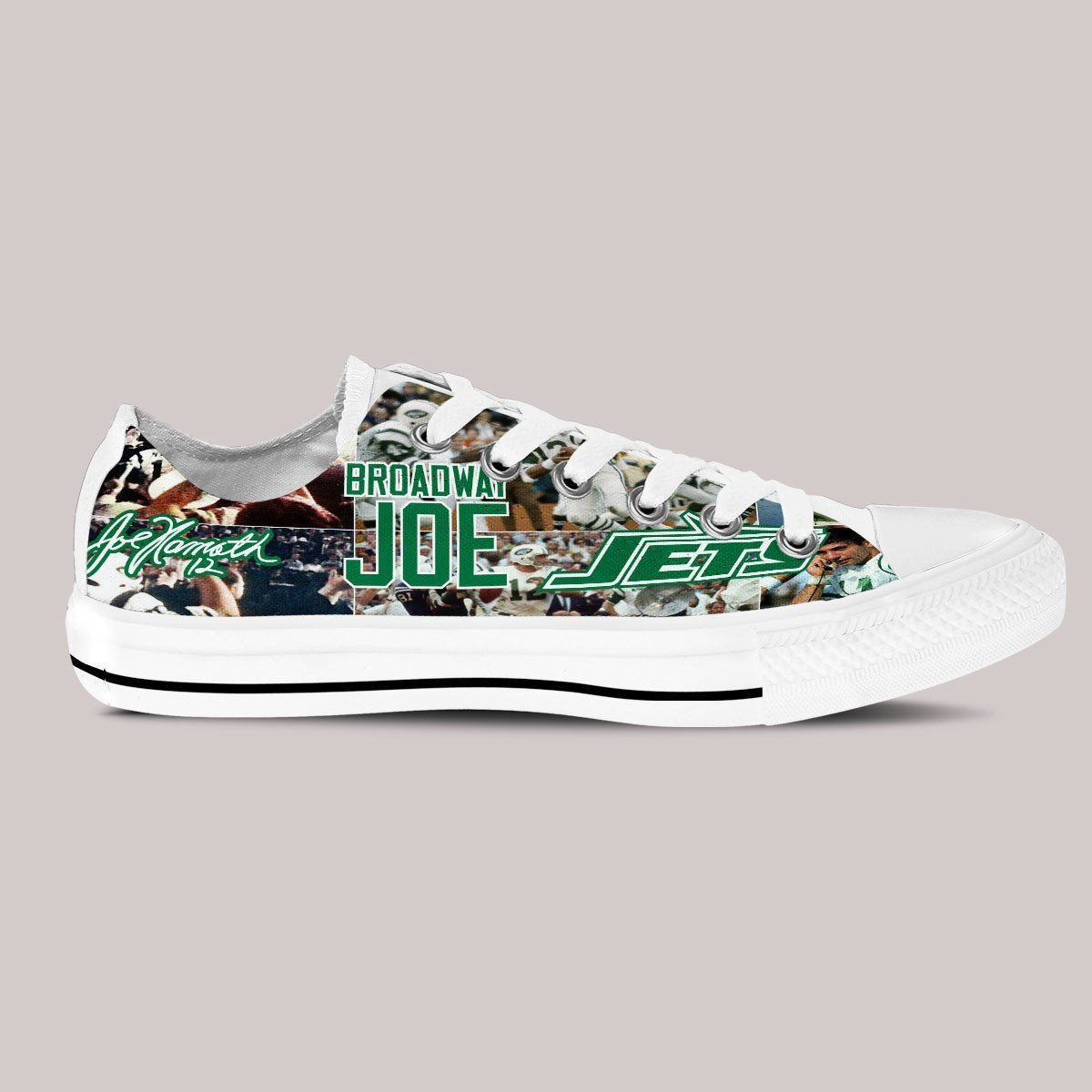 joe namath ladies low cut sneakers