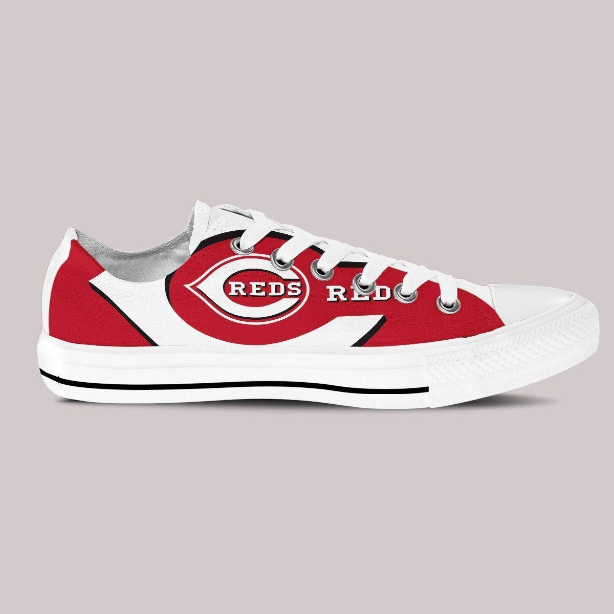 cincinnati reds ladies low cut sneakers