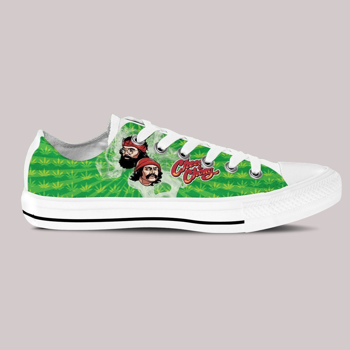 cheech and chong mens low cut sneakers