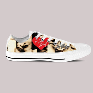 lucille ball mens low cut sneakers
