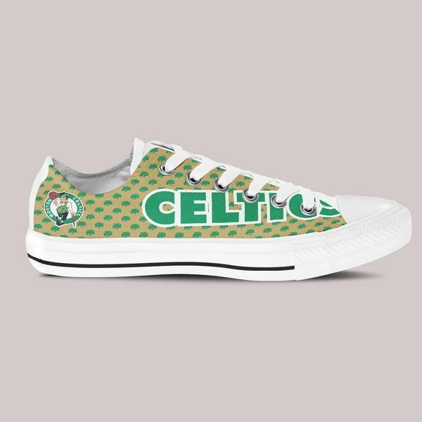boston celtics mens low cut sneakers cut