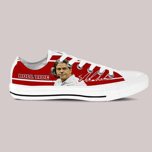 nick saban mens low cut sneakers cut