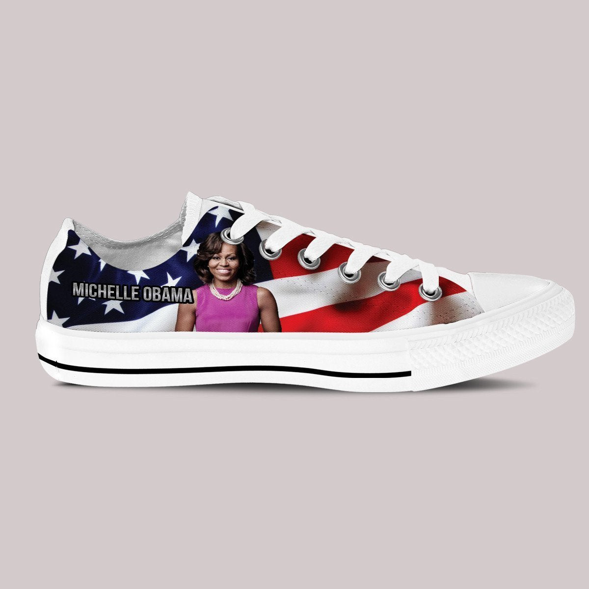 michelle obama ladies low cut sneakers