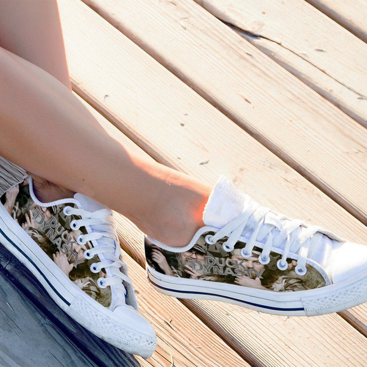 duck dynasty ladies low cut sneakers
