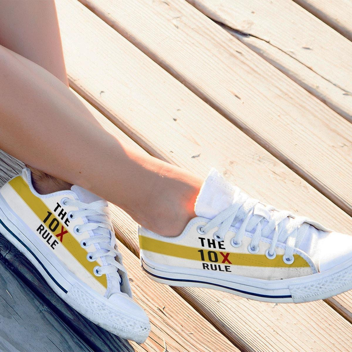 the 10x rule ladies low cut sneakers