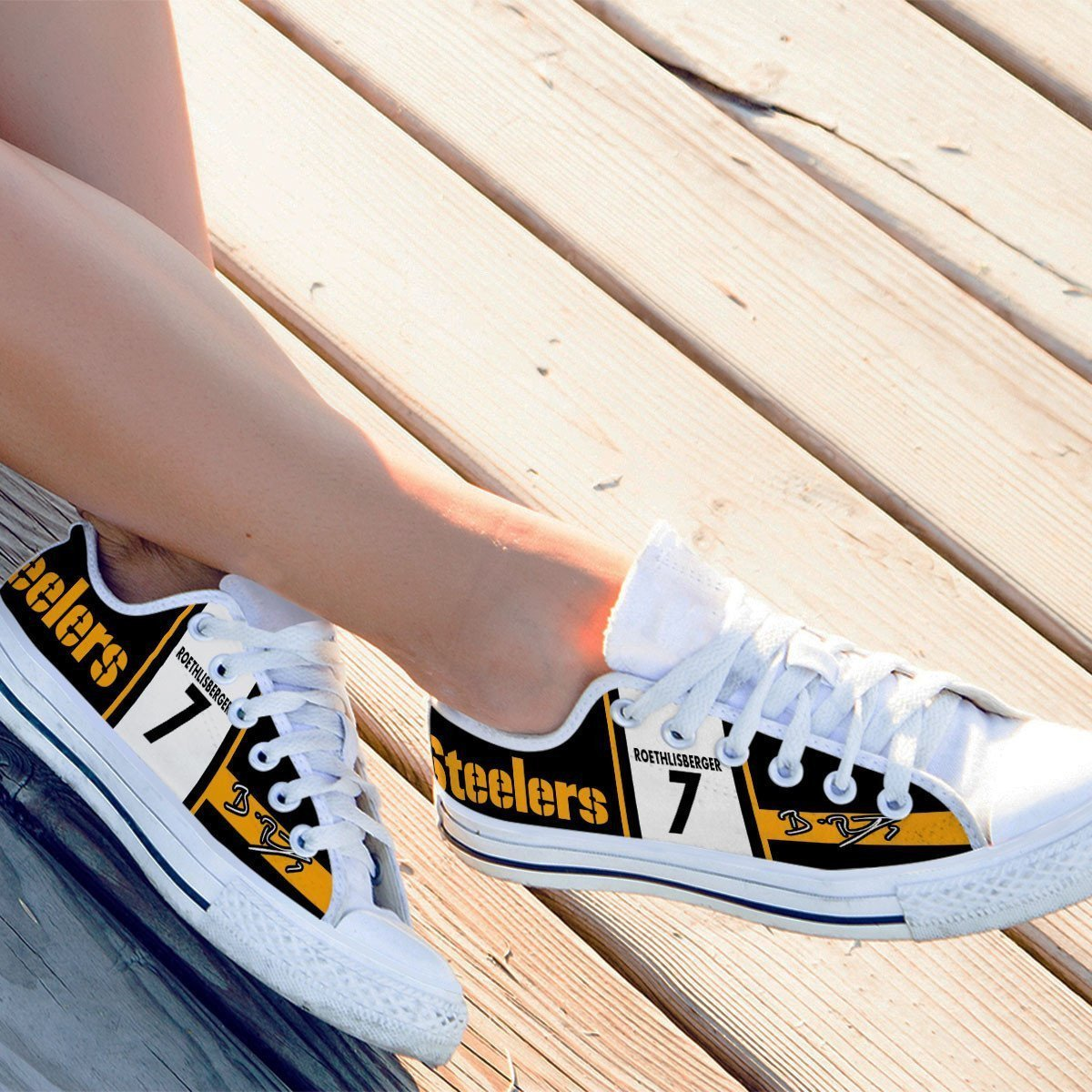 ben roethlisberger ladies low cut sneakers