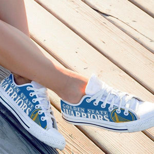 golden state warriors ladies low cut sneakers