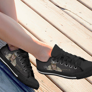 kid rock black ladies low cut sneakers