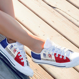 french roots ladies low cut sneakers