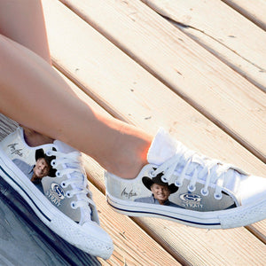 george strait ladies low cut sneakers