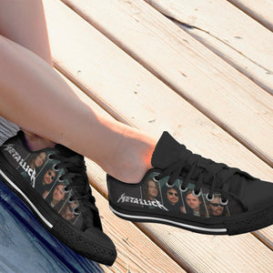 metallica ladies low cut sneakers