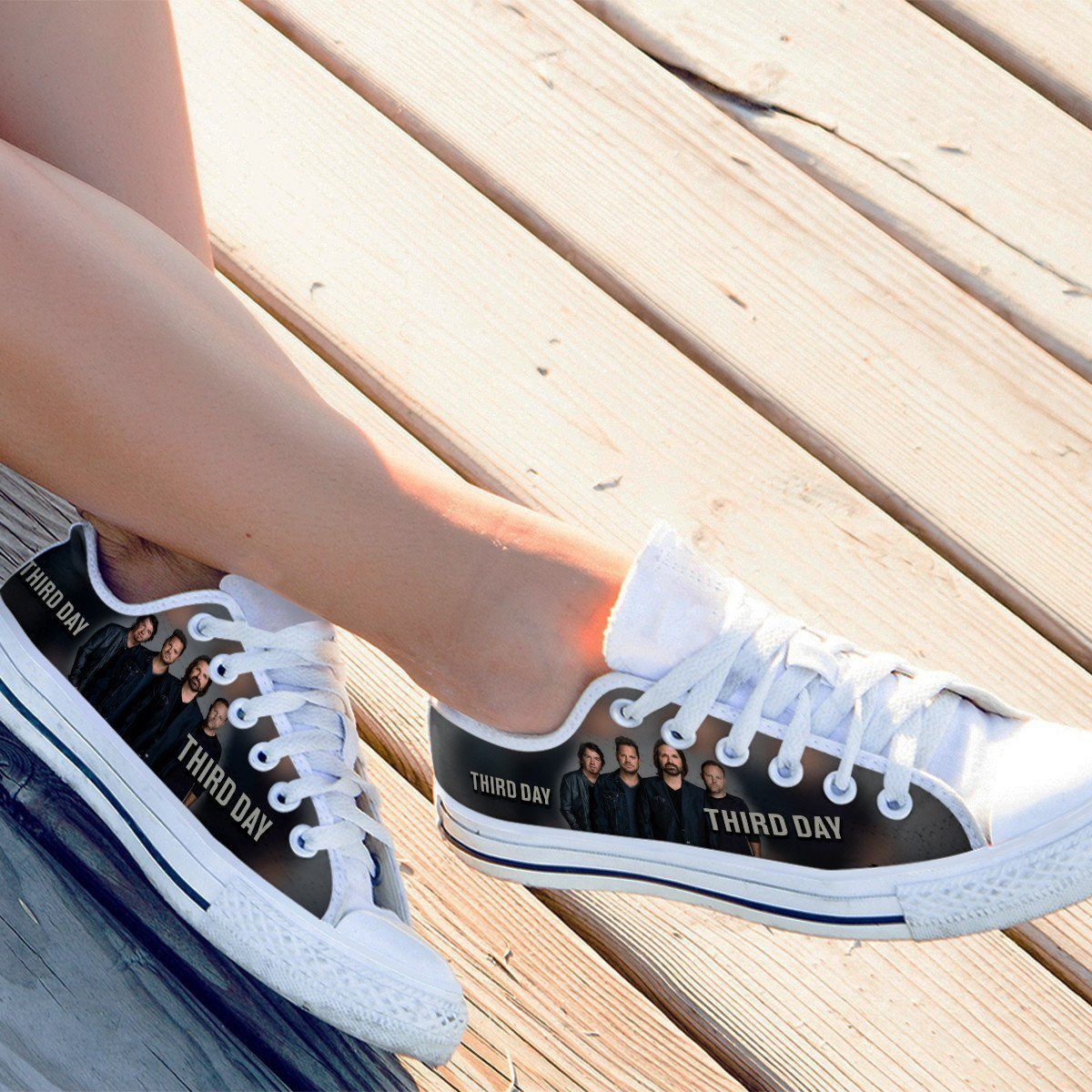 third day band ladies low cut sneakers