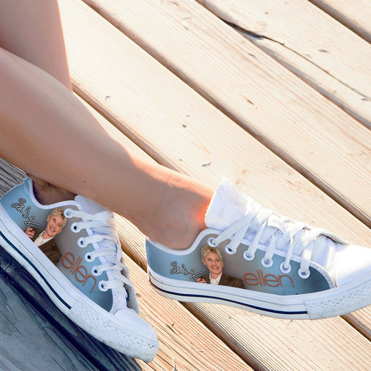 ellen degeneres ladies low cut sneakers