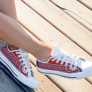 montreal canadiens ladies low cut sneakers