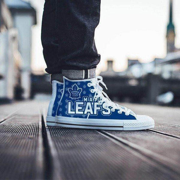 toronto maple leafs mens high top sneakers high top