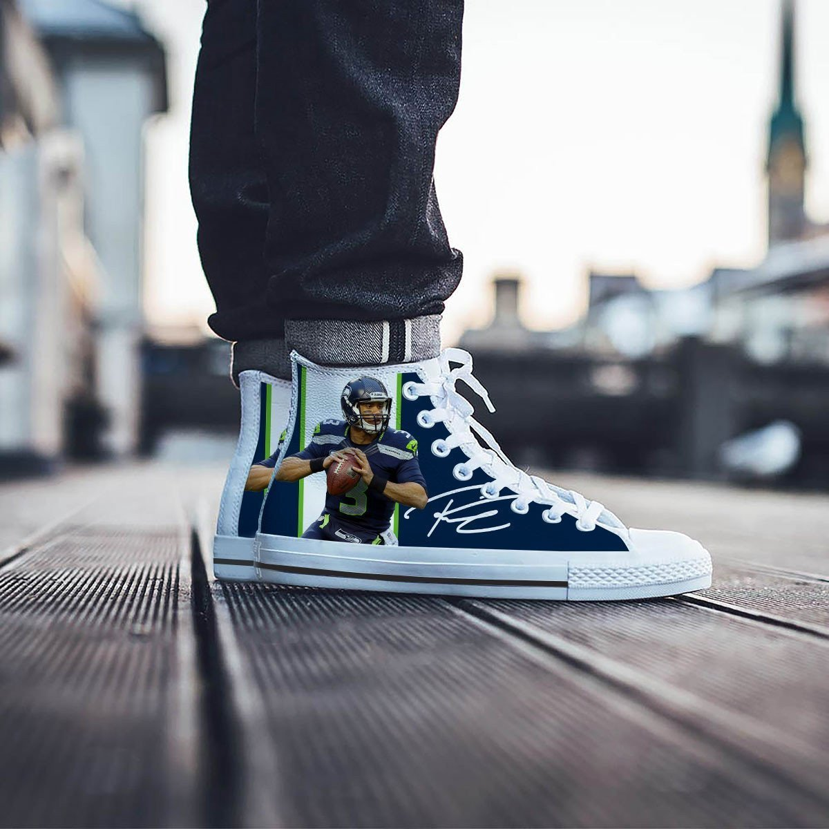 russell wilson mens high top sneakers high top
